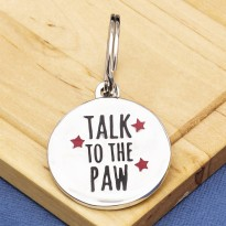 Talk to the Paw Fun Pet Tag