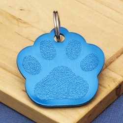 Blue Paw Dog ID Tag