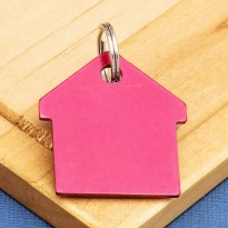 Red House Pet ID Tag Aluminium
