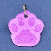 Purple Paw Pet ID Tag Small