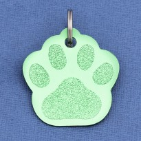 Green Paw Pet ID Tag - Small