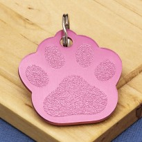 Red Paw Dog ID Tag - Small