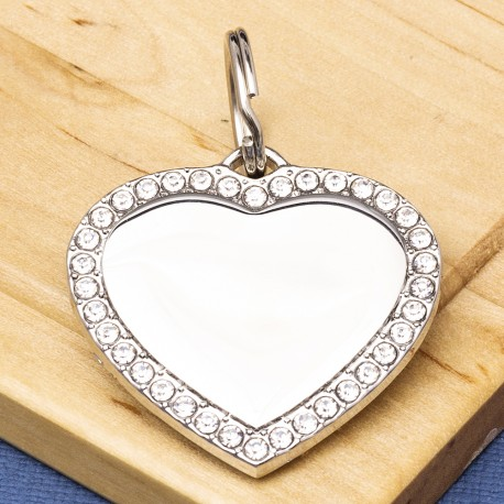 Bling Heart Dog ID Tag
