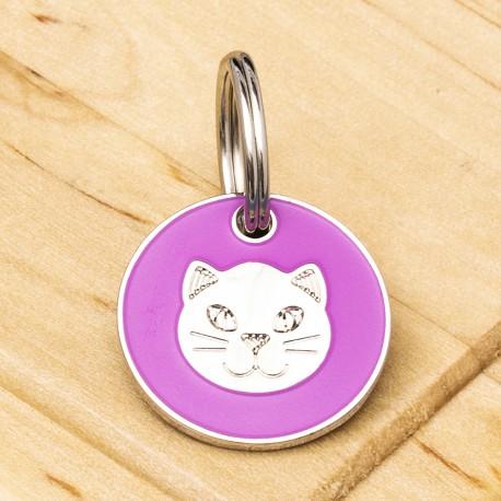 Pink Cat ID Tag