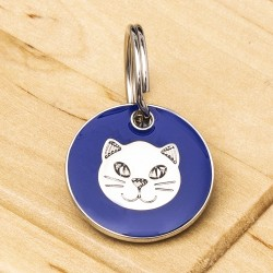 Blue Cat ID Tag