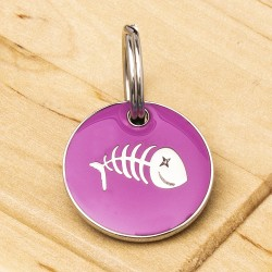 Fish Cat ID Tag Pink