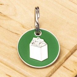Milk Carton ID Tag Green