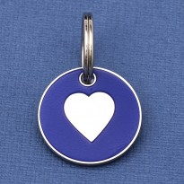 Puppy ID Tag Blue Heart 20mm