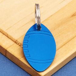 Rugby Dog ID Tag Blue