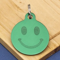 Smiley face Dog ID Tag
