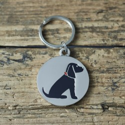 Black Cocker Spaniel Dog ID Tag