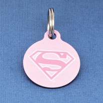 Supergirl Pet ID Tag - Small
