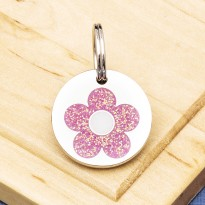 Daisy Flower Cat ID Tag