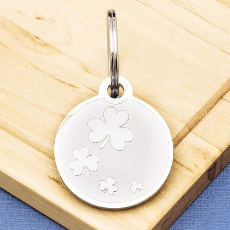 Clover Pet Id Tag Premium Stainless Steel