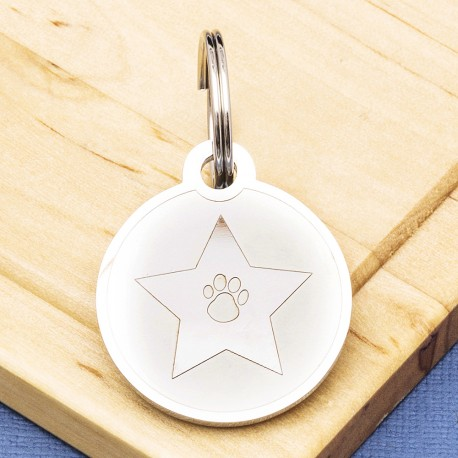 Star Pet Id Tag Premium Stainless Steel