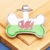 Flag Bone Dog ID Tag Wales