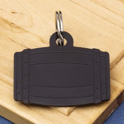Aluminium Barrel Tag Black