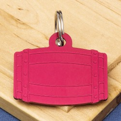 Barrel Pet Id Tag Red Aluminium