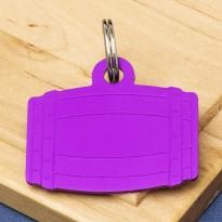 Barrel Pet Id Tag Purple Aluminium