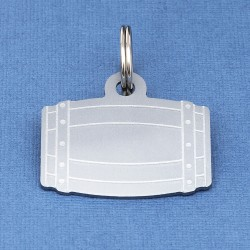 Barrel Pet Id Tag Silver Aluminium