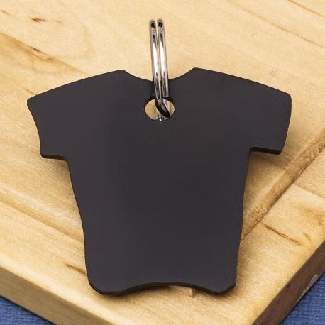 Shirt Pet Id Tag Black Aluminium