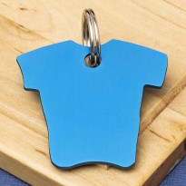 Shirt Pet Id Tag Blue Aluminium