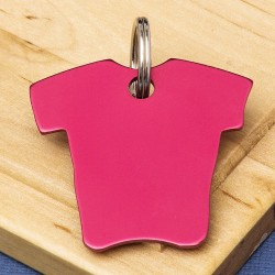 Shirt Pet Id Tag Red Aluminium