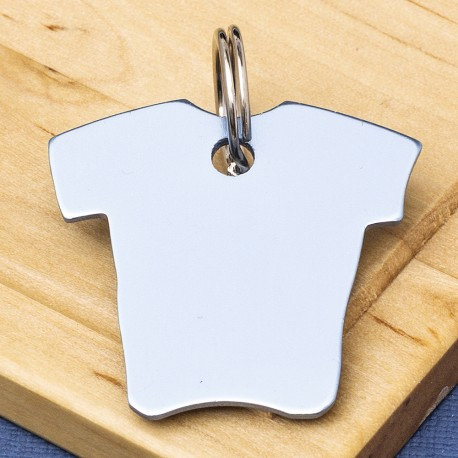 Shirt Pet Id Tag Sky Blue Aluminium