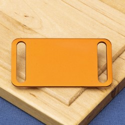 Agility Pet Id Tag Orange Aluminium