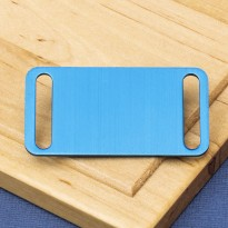Agility Slide On Pet Id Tag Blue