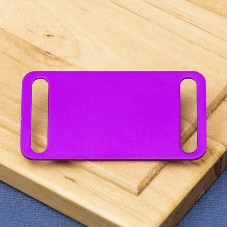 Agility Pet Id Tag Purple Aluminium