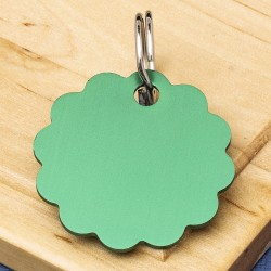 Cloud Pet Id Tag 32mm Green