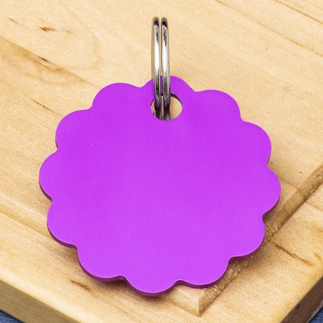Cloud Double-Sided Pet Id Tag Purple