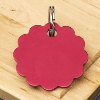 Cloud Double-Sided Pet Id Tag Red