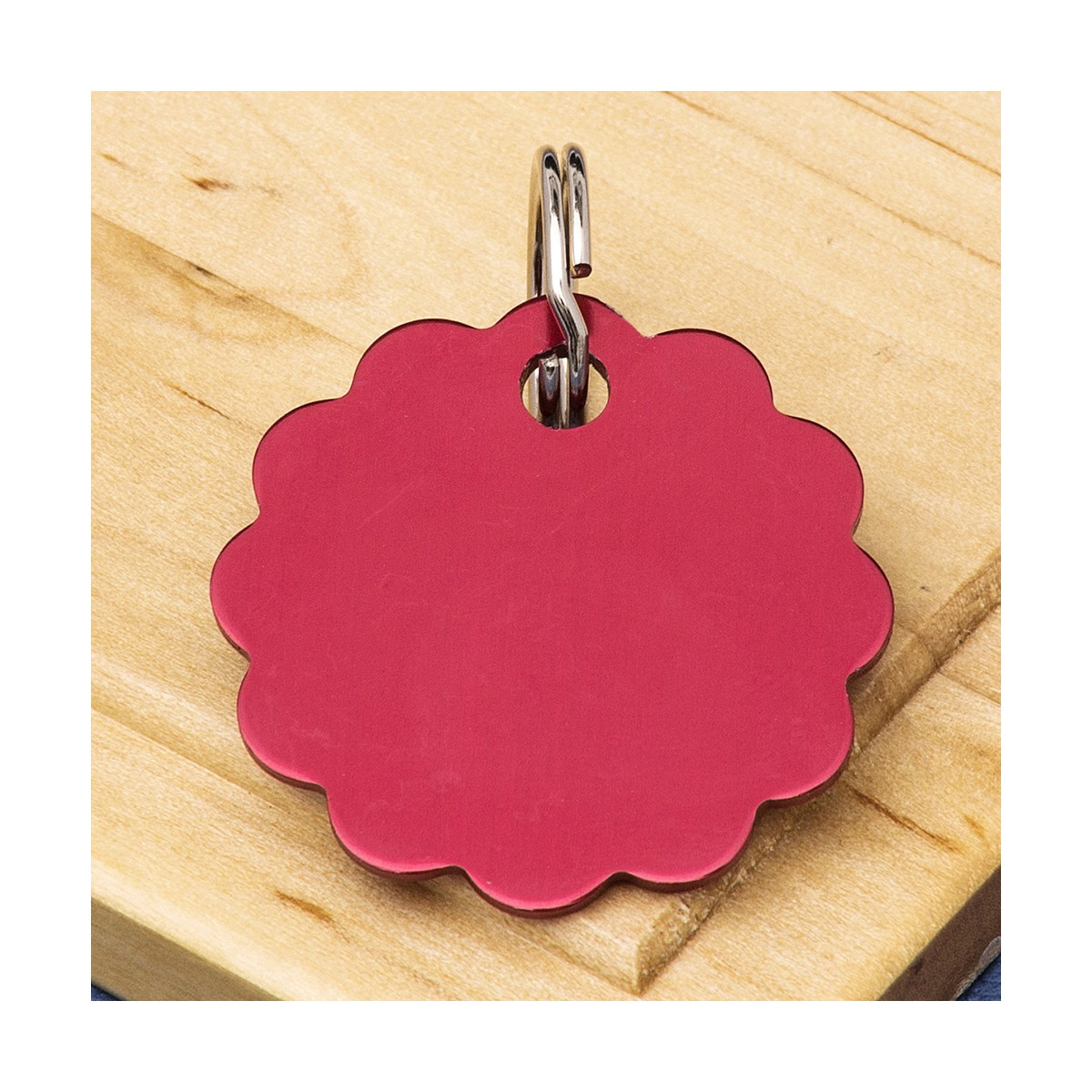 Cloud Dog Tag Red Dog Tags Double Sided Engraved Pet