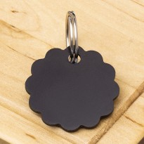 Cloud Double-Sided Pet Id Tag Black