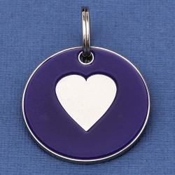 Large Dog ID Tag Purple Heart