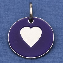 Large Dog ID Tag Purple Heart