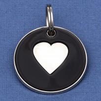 Large Dog ID Tag Black Heart