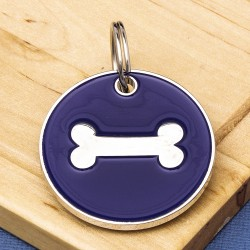 25mm Purple Bone Pet Id Tag