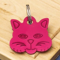 Cat Identity Tag Red