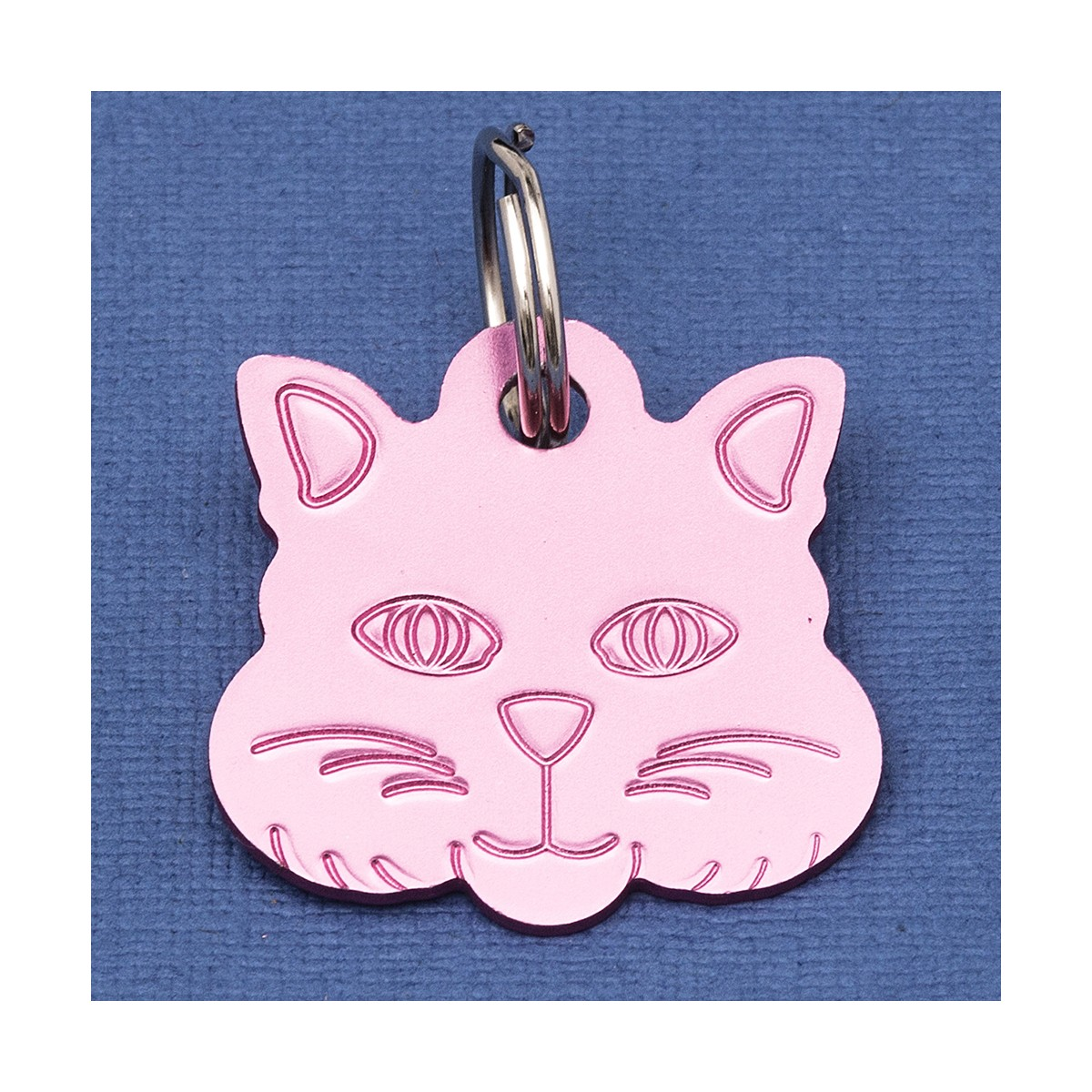 Cat Identity Tag Pink Cat Design Id Tags Small Name