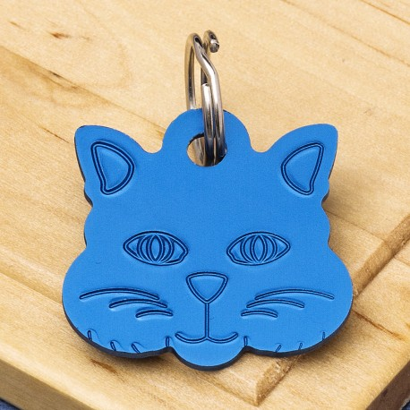 Cat Identity Tag Blue