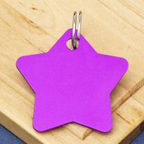 Star Pet Identity Tag Purple