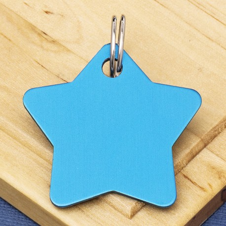 Star Pet Identity Tag Blue