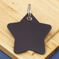 Star Pet Identity Tag Black