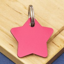 Star Pet Identity Tag Red