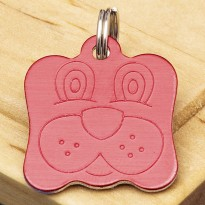 Dog Identity Tag Red