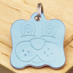 Dog Identity Tag Blue