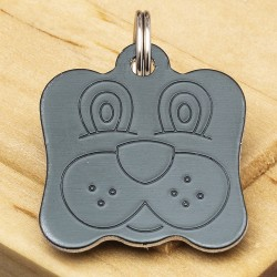 Dog Identity Tag Black